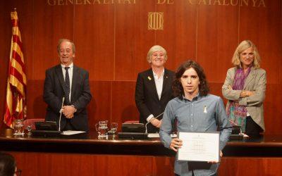 Pau Sánchez rep el Premi Extraordinari de Batxillerat