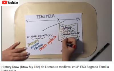 History Draw (Draw My Life) de Literatura medieval en 3º de ESO
