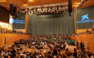 Els alumnes de 5è de Primària es converteixen en 'Partícules' a Cantània 2018