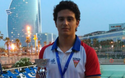 David Holgado, campió en waterpolo